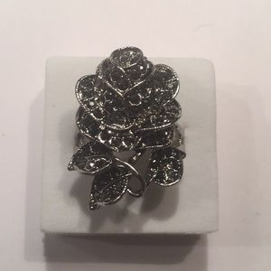 Stamped925(solid sterling silver) Black rose size9